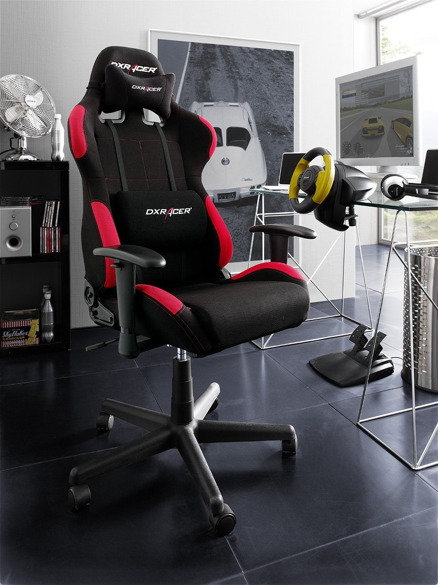 robas lund dx racer 5 gamingstuhl schreibtischstuhl b rostuhl 78 x 52 x 124 134 cm stoff. Black Bedroom Furniture Sets. Home Design Ideas